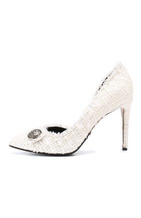 Текстильные туфли Julie  Balmain белые | Фото №3