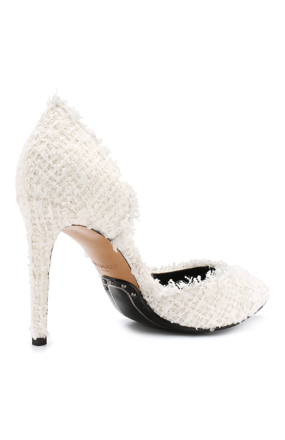 Текстильные туфли Julie  Balmain белые | Фото №4