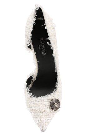 Текстильные туфли Julie  Balmain белые | Фото №5