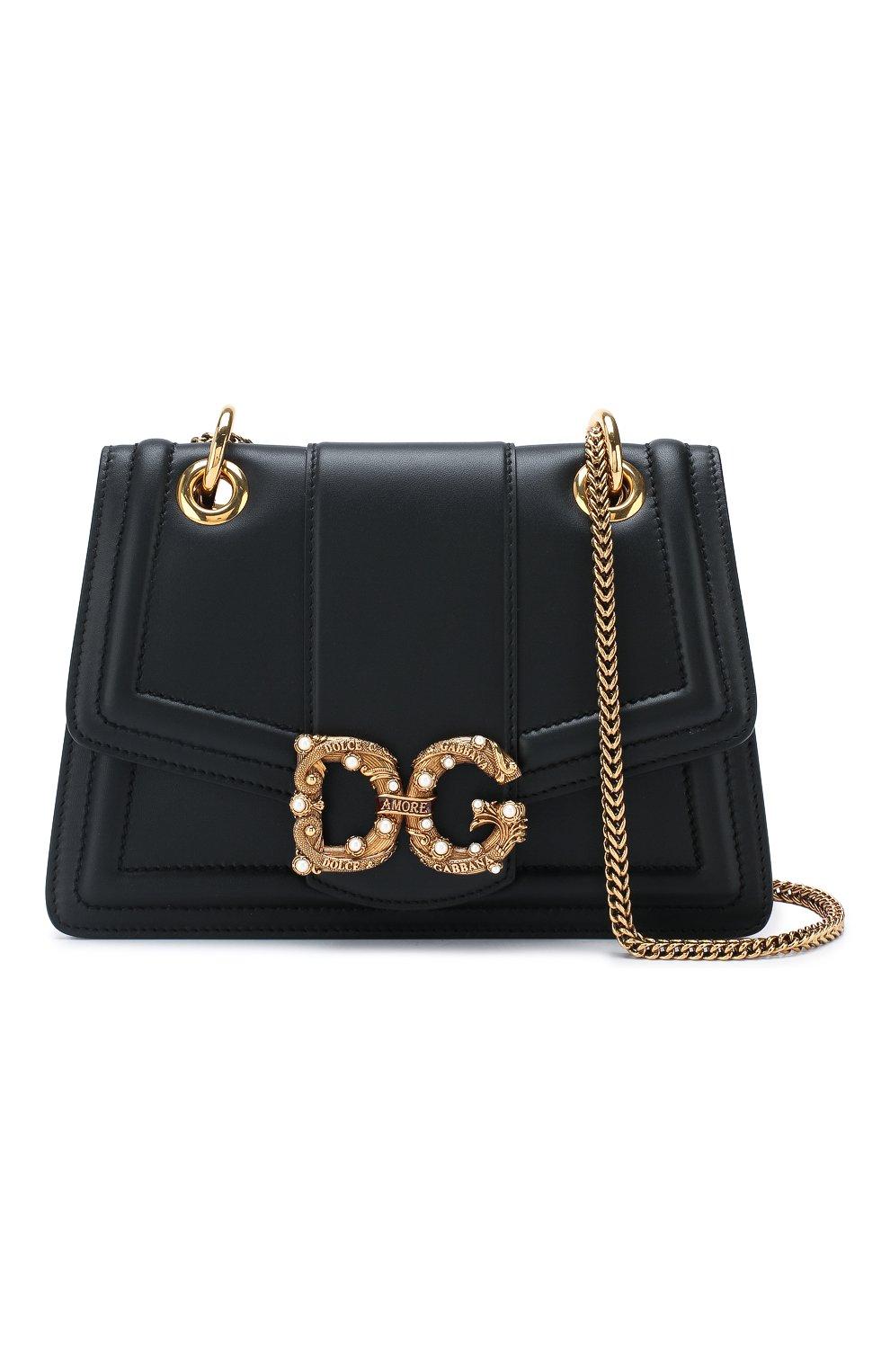 4e6fc77bb57a Женская сумка dg amore DOLCE & GABBANA черная цвета — купить за ...