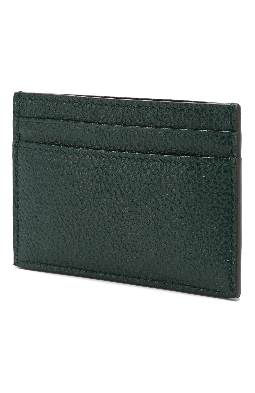 Женский кожаный футляр для кредитных карт zumi GUCCI зеленого цвета, арт. 570679/1B90X | Фото 2