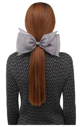 Женская заколка для волос FLOWER ME светло-серого цвета, арт. ZBOW-NS017010L   Фото 2