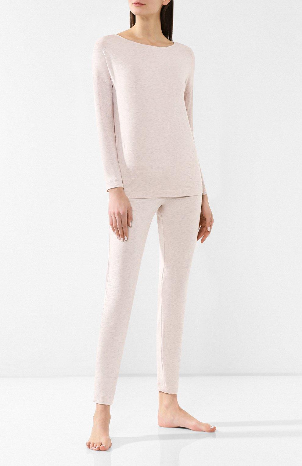 Женская пижама из вискозы HANRO светло-розового цвета, арт. 076390   Фото 1