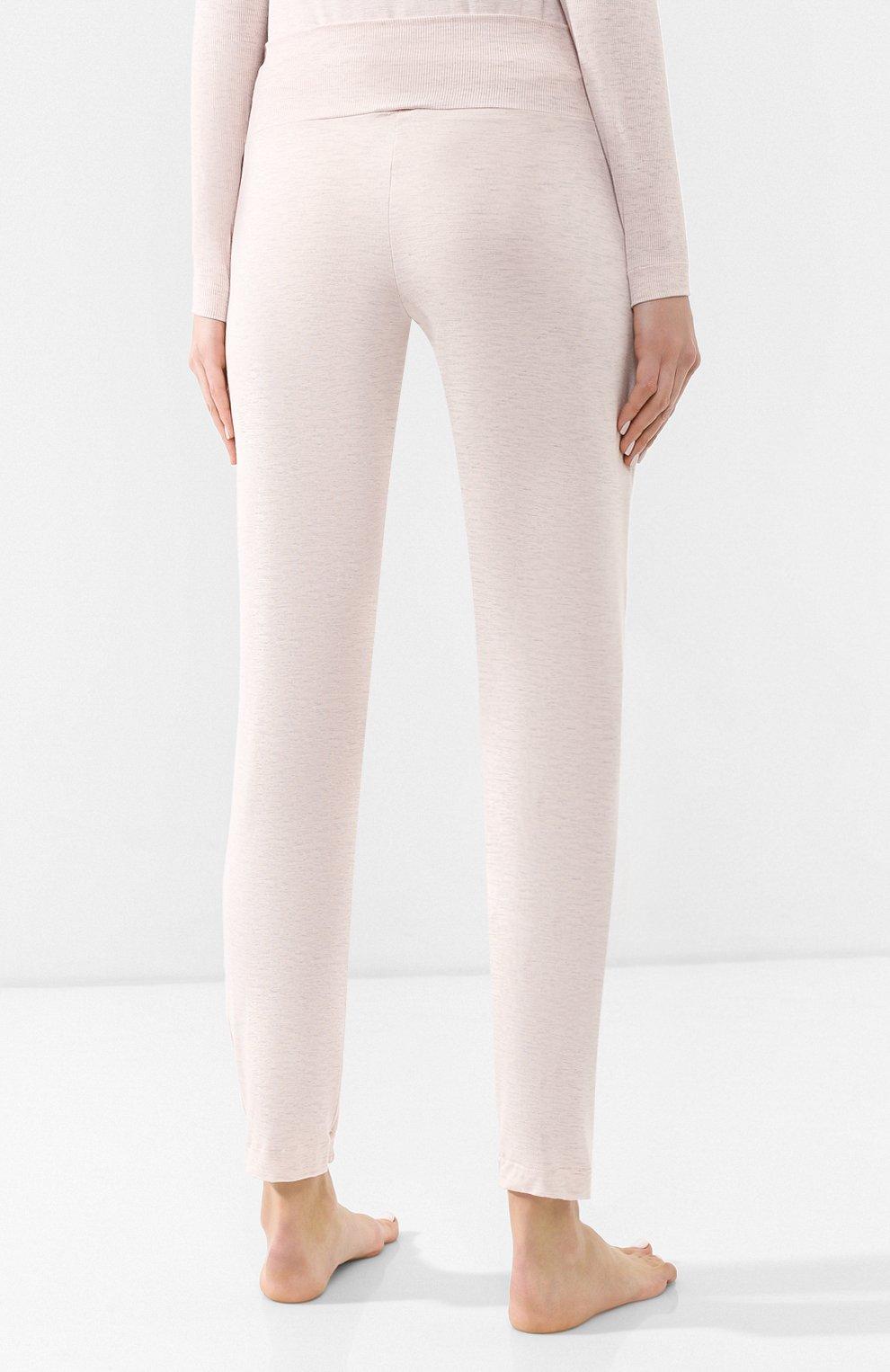 Женская пижама из вискозы HANRO светло-розового цвета, арт. 076390   Фото 5