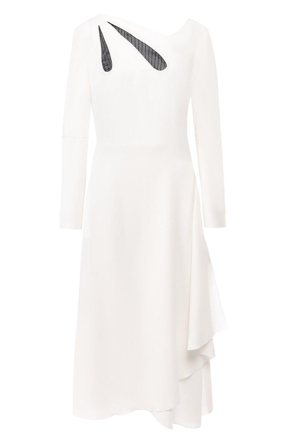 3d1cde45de3cc61 Женское белое шерстяное платье ROLAND MOURET — купить за 131500 руб ...
