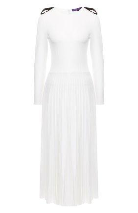 Женское платье-миди RALPH LAUREN белого цвета, арт. 290749766 | Фото 1