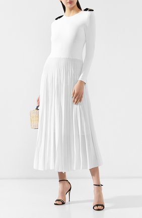 Женское платье-миди RALPH LAUREN белого цвета, арт. 290749766 | Фото 2