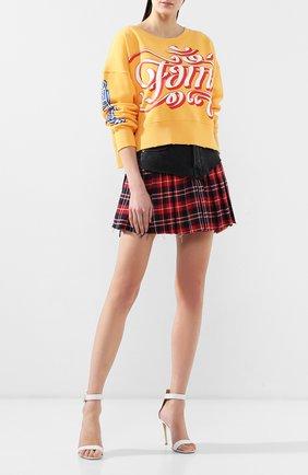 Женская хлопковый свитшот FAITH CONNEXION желтого цвета, арт. W3350J00050 | Фото 2