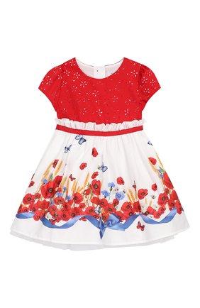 Женский хлопковое платье MONNALISA разноцветного цвета, арт. 313925 | Фото 1
