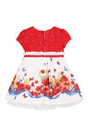 Женский хлопковое платье MONNALISA разноцветного цвета, арт. 313925 | Фото 2