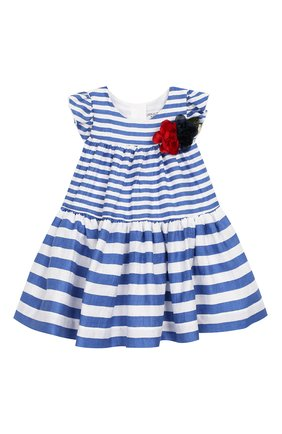 Женский льняное платье MONNALISA голубого цвета, арт. 313922F6 | Фото 1