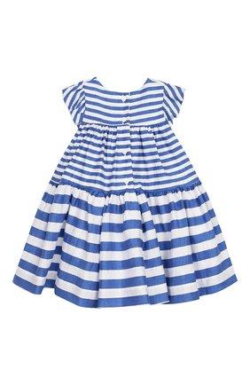 Женский льняное платье MONNALISA голубого цвета, арт. 313922F6 | Фото 2