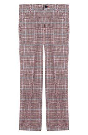 Детские брюки из хлопка и льна ALETTA красного цвета, арт. N99138/9A-16A | Фото 1