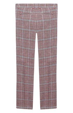 Детские брюки из хлопка и льна ALETTA красного цвета, арт. N99138/9A-16A | Фото 2