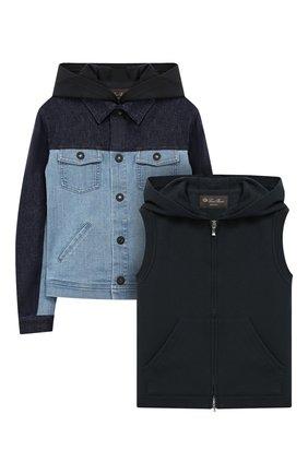 Комплект из куртки и жилета с капюшоном | Фото №1