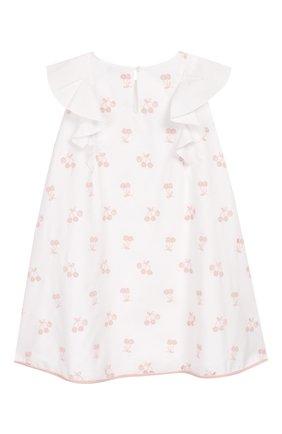 Детское хлопковое платье LORO PIANA белого цвета, арт. FAI4823 | Фото 2