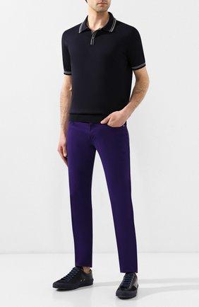 Мужские хлопковые брюки  RALPH LAUREN сиреневого цвета, арт. 790678678 | Фото 2 (Длина (брюки, джинсы): Стандартные; Материал внешний: Хлопок; Статус проверки: Проверено, Проверена категория; Случай: Повседневный)