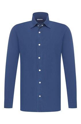 Мужская хлопковая рубашка  KITON синего цвета, арт. UMCNERCH0690402   Фото 1