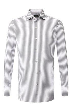 Мужская хлопковая сорочка TOM FORD серого цвета, арт. 5FT221/94C1AX | Фото 1