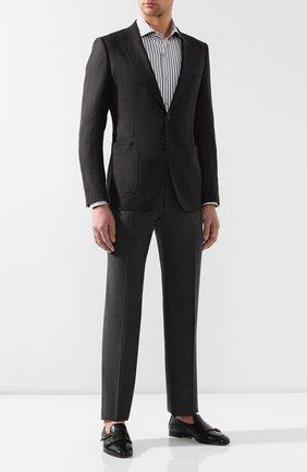 Мужская хлопковая сорочка TOM FORD серого цвета, арт. 5FT221/94C1AX | Фото 2