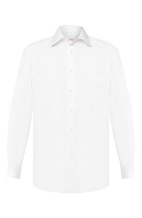 Мужская хлопковая сорочка BRIONI белого цвета, арт. RCLU4H/PZ016 | Фото 1