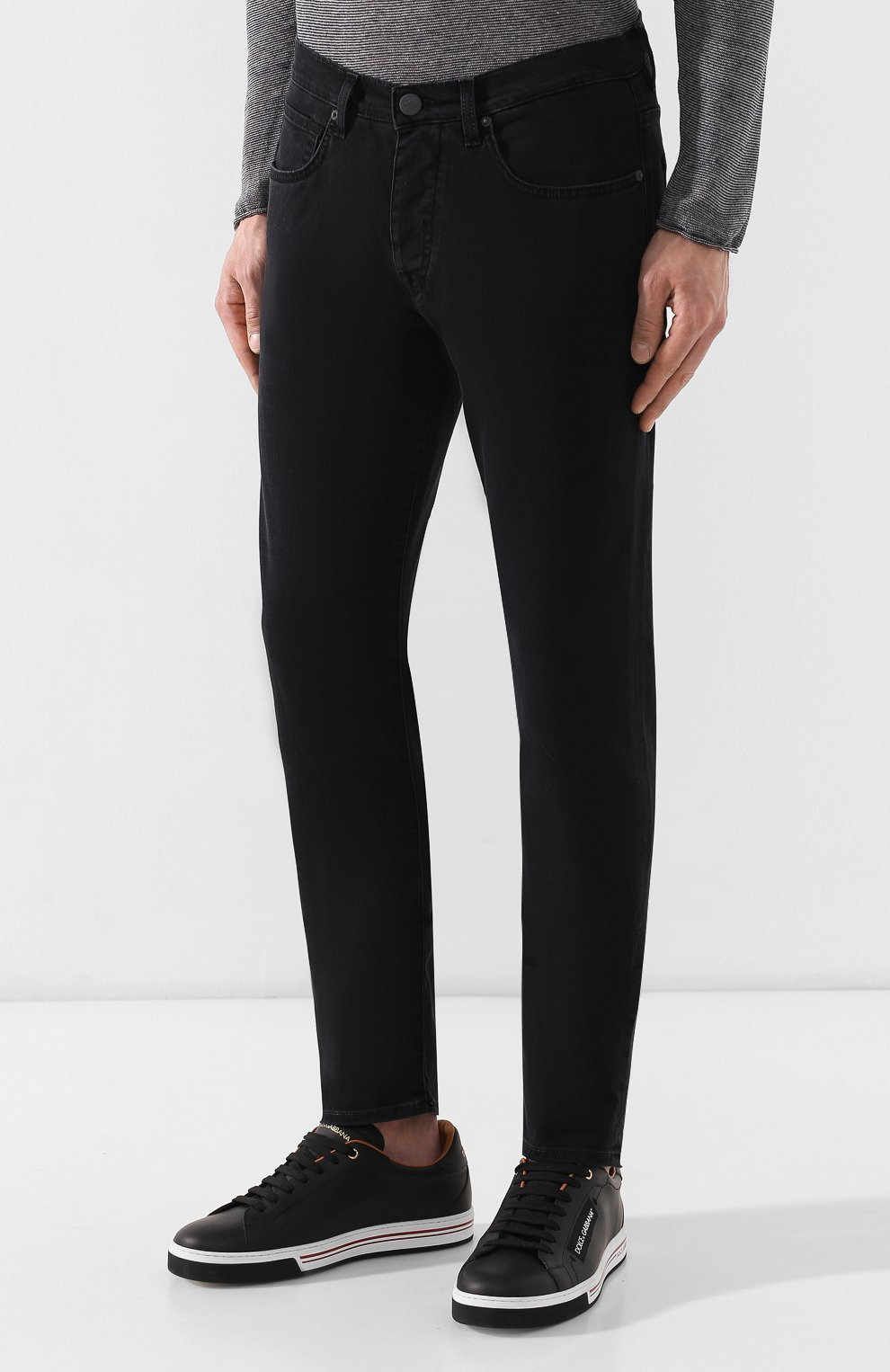 Мужские джинсы 2 MEN JEANS черного цвета, арт. MARC0/U49P5 | Фото 3