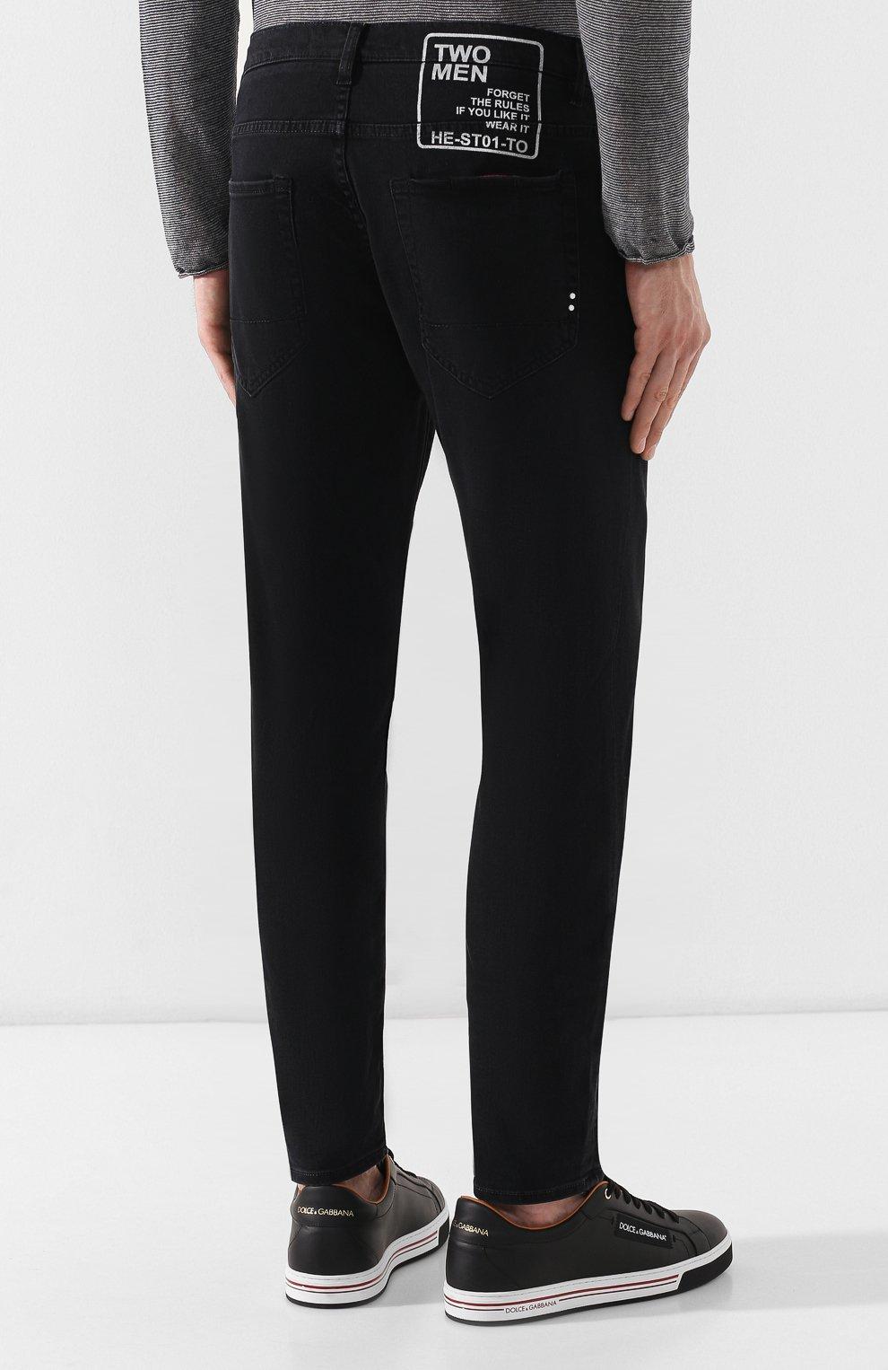 Джинсы 2 Men Jeans черные | Фото №4