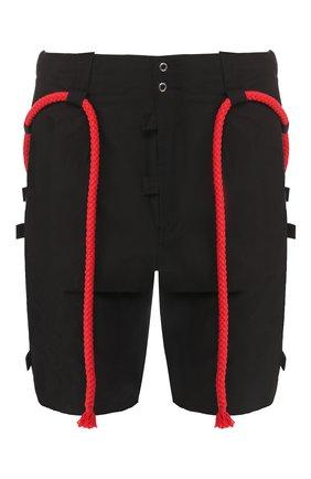 Хлопковые шорты Craig Green черные | Фото №1