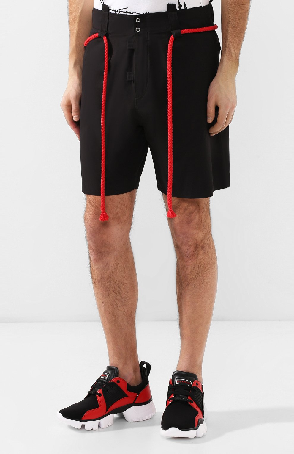 Хлопковые шорты Craig Green черные | Фото №3