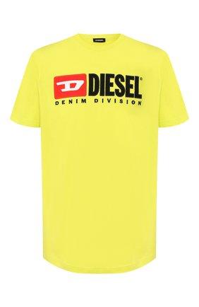 Хлопковая футболка  Diesel желтая | Фото №1