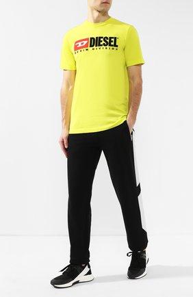 Хлопковая футболка  Diesel желтая | Фото №2