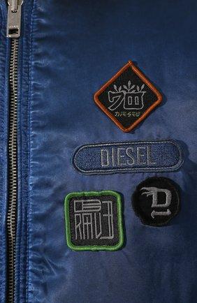 Бомбер Diesel черная | Фото №5