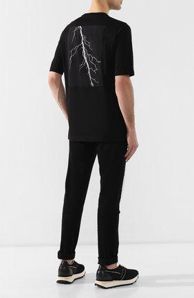 Хлопковая футболка Diesel черная | Фото №2