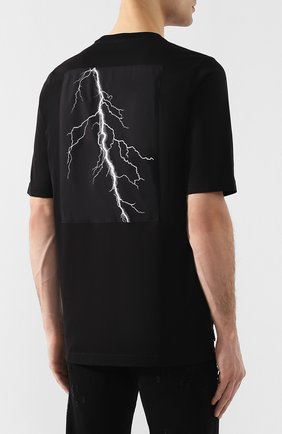 Хлопковая футболка Diesel черная | Фото №4