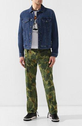 Мужской хлопковые брюки-карго RRL хаки цвета, арт. 782733233 | Фото 2