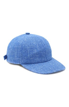 Мужской бейсболка из смеси кашемира и шерсти KITON синего цвета, арт. UCAPP03/6R25 | Фото 1