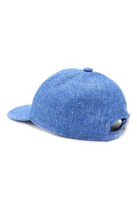 Мужской бейсболка из смеси кашемира и шерсти KITON синего цвета, арт. UCAPP03/6R25 | Фото 2