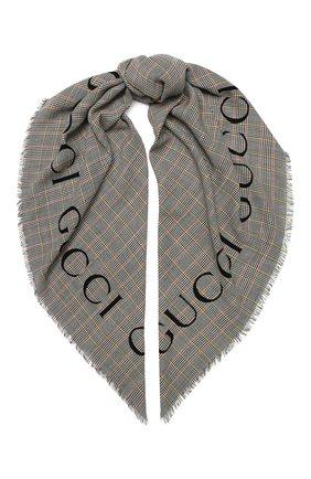 Мужской шерстяной платок GUCCI разноцветного цвета, арт. 572419/4G059 | Фото 1