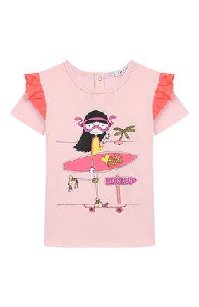 Детский футболка с принтом MARC JACOBS (THE) розового цвета, арт. W05248/2A-3A | Фото 1