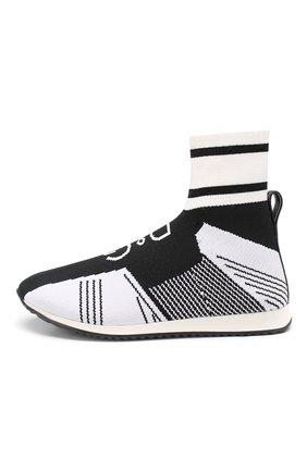Детские текстильные кроссовки DOLCE & GABBANA черно-белого цвета, арт. DA0721/AK470/29-36 | Фото 2