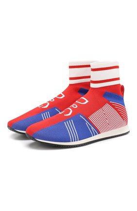 Детские текстильные кроссовки DOLCE & GABBANA красного цвета, арт. DA0721/AK470/37-39 | Фото 1