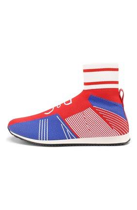 Детские текстильные кроссовки DOLCE & GABBANA красного цвета, арт. DA0721/AK470/37-39 | Фото 2