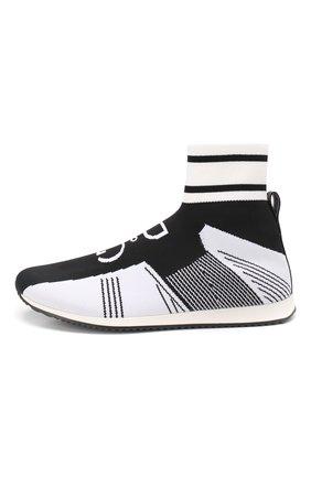 Детские текстильные кроссовки DOLCE & GABBANA черно-белого цвета, арт. DA0721/AK470/37-39 | Фото 2