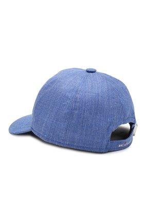 Мужской бейсболка из смеси кашемира и льна KITON синего цвета, арт. UCAPP03/6R60 | Фото 2