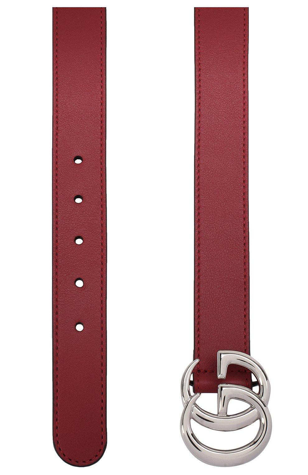 Детский кожаный ремень GUCCI красного цвета, арт. 432707/B960N | Фото 2