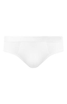 Мужские брифы с широкой резинкой DEREK ROSE белого цвета, арт. 8527-ALEX001 | Фото 1
