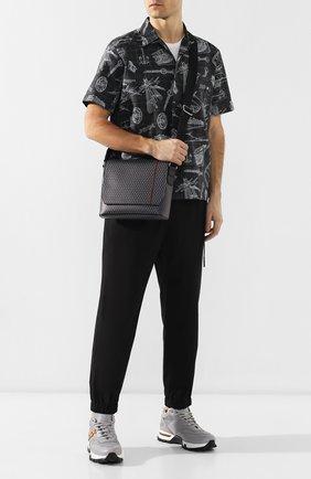 Мужская текстильный мессенджер DUNHILL серого цвета, арт. DU19R3655CC   Фото 2
