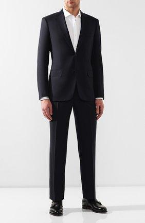 Мужской шерстяной костюм BRIONI темно-синего цвета, арт. RAI30V/PZA18/PARLAMENT0 | Фото 1