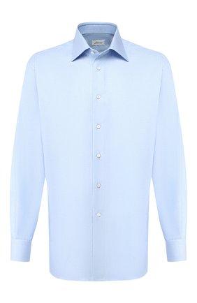 Мужская хлопковая сорочка BRIONI голубого цвета, арт. RCL42G/PZ023 | Фото 1