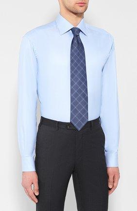 Мужская хлопковая сорочка BRIONI голубого цвета, арт. RCL42G/PZ023 | Фото 4